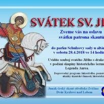 přání k svátku jiřímu Svátek sv. Jiřího   divadelní představení v parku ve Dvoře Králové  přání k svátku jiřímu